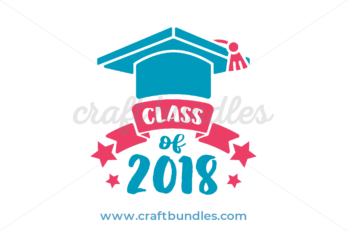 FREE Class of 2018 SVG Cut File by CraftBundles.com.