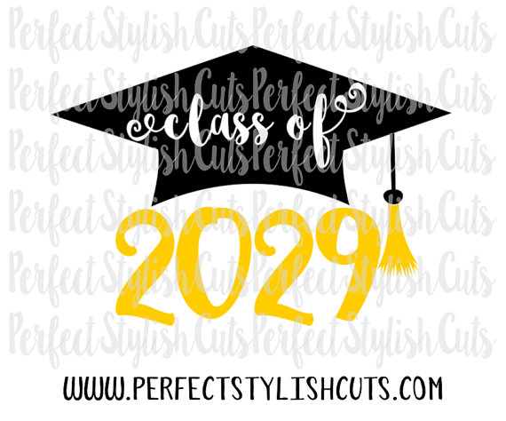 Class of 2029 SVG DXF EPS png Files for by PerfectStylishCuts.