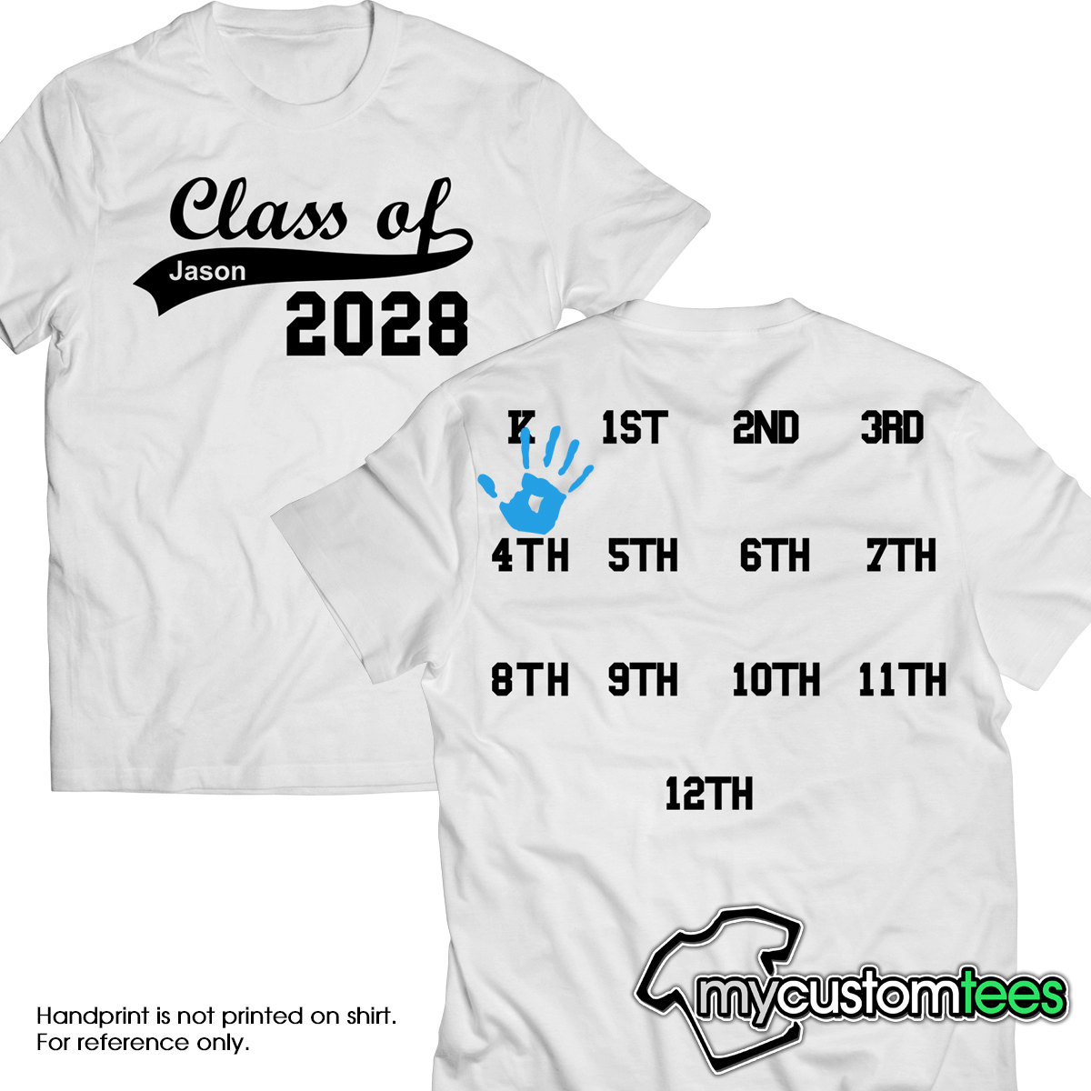 Custom Class of 2027 2028 2029 2030 Back to School Years.