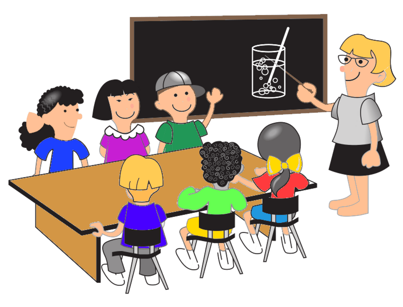 Children in the classroom clipart. Free download..