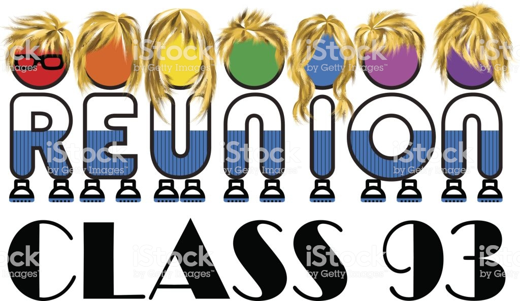 Class Reunion Logo Isolated Rainbow Color On White Background A Vector  Illustration Stock Illustration.