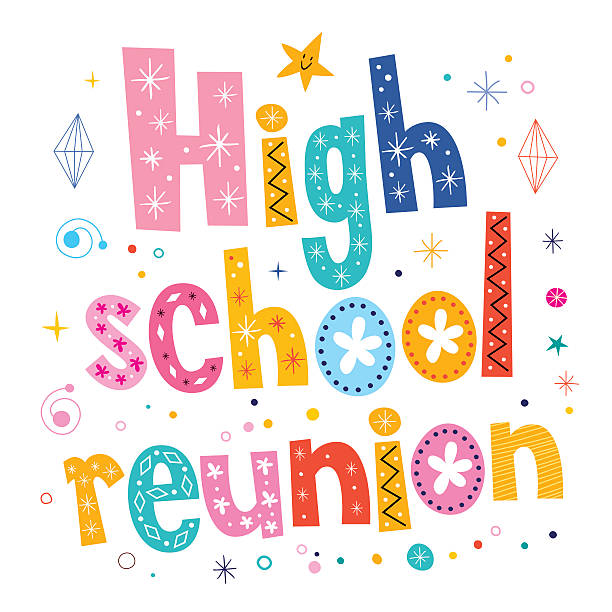 High School Reunion Illustrations, Royalty.