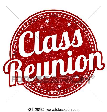Class reunion stamp Clipart.