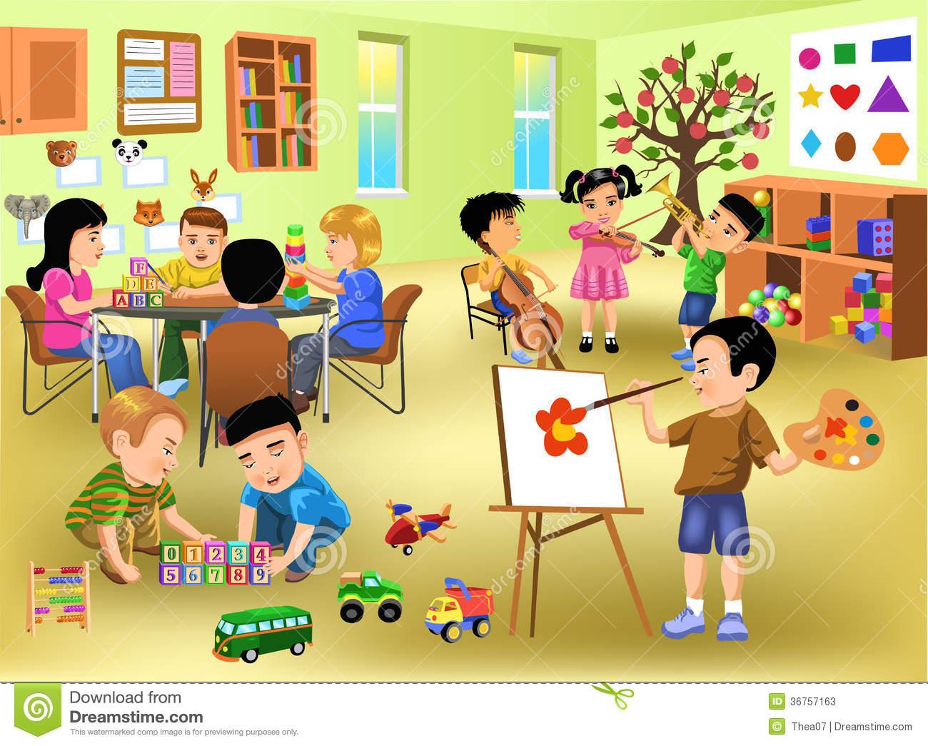 Class room clip art.