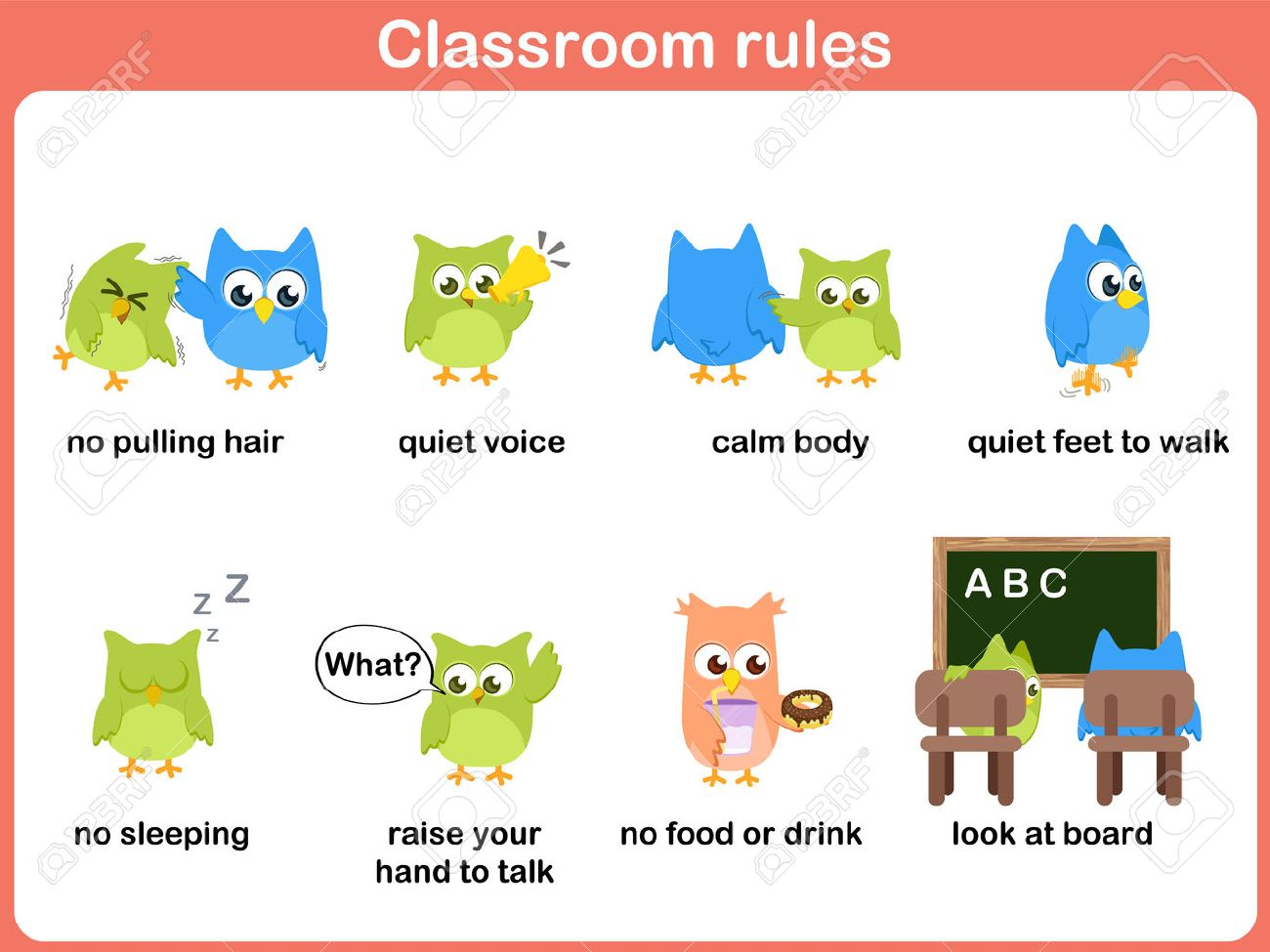 Classroom rules for kids.