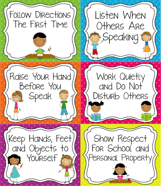 Classroom Rules that are tangible and easy for younger students to.