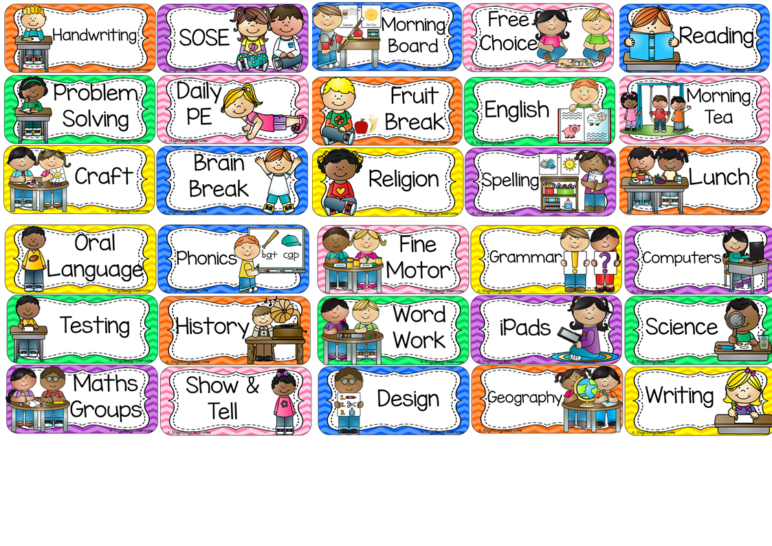 62 Awesome classroom daily schedule clipart.
