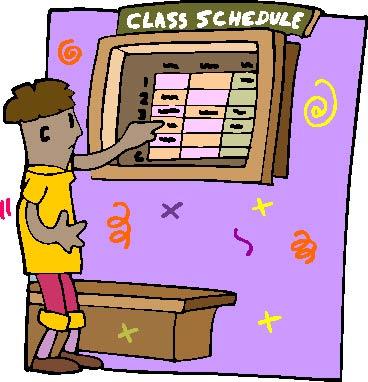 Yoga Class Schedule Clipart.