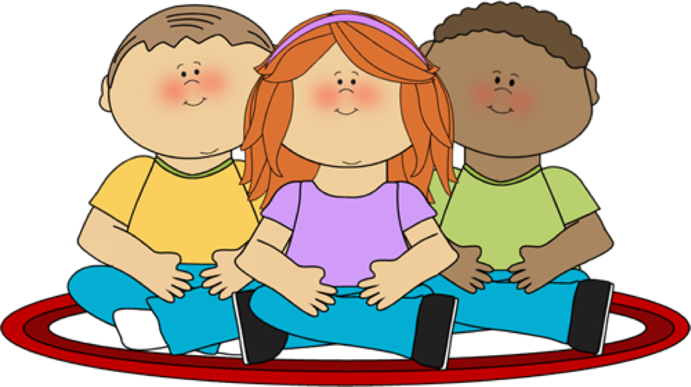 Kids Sitting On Rug Clipart.