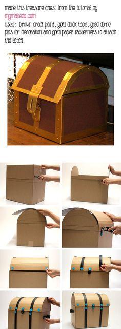 printable treasure chest template.
