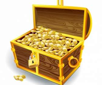 Class Treasure Chest With Children Clipart.