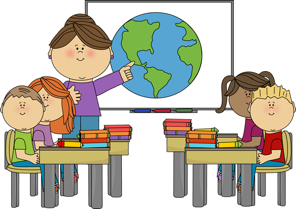 teacher and student desk clipart #16