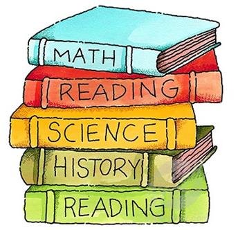 School Books Clip Art.