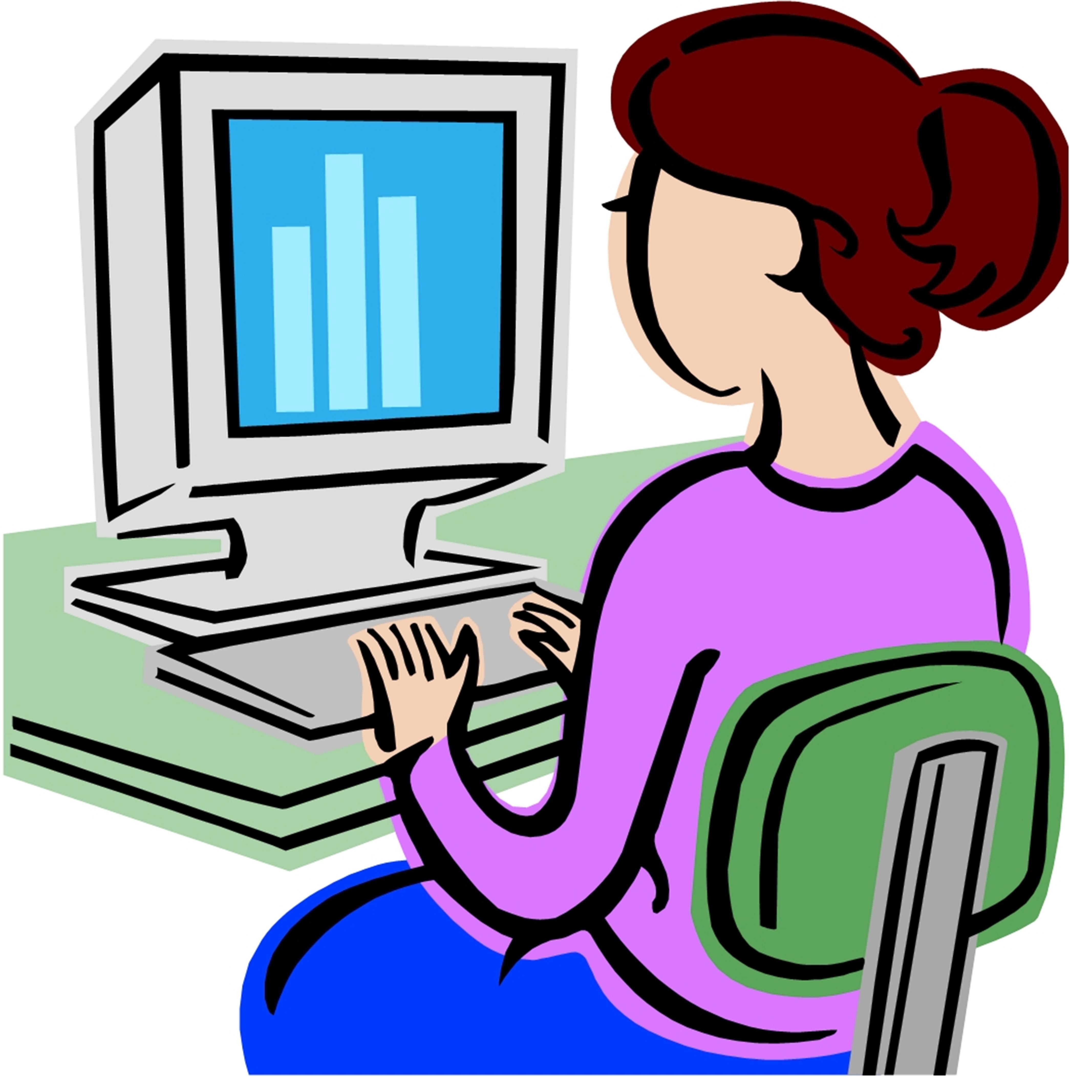 Computer classes clipart.