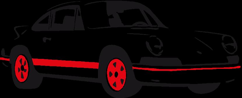 cars vintage and clip art on pinterest. old corvette car in black.