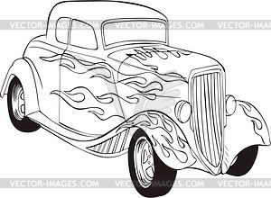 Classic Car Clipart Black And White.