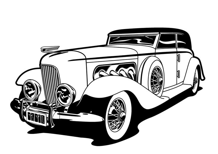 Classic car clipart black and white 4 » Clipart Portal.