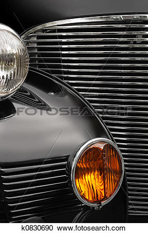 Stock Photography of Antique car grill k0830690.