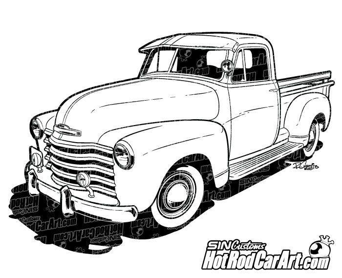 Happy Birthday 1955 Ford Car Free Clipart.