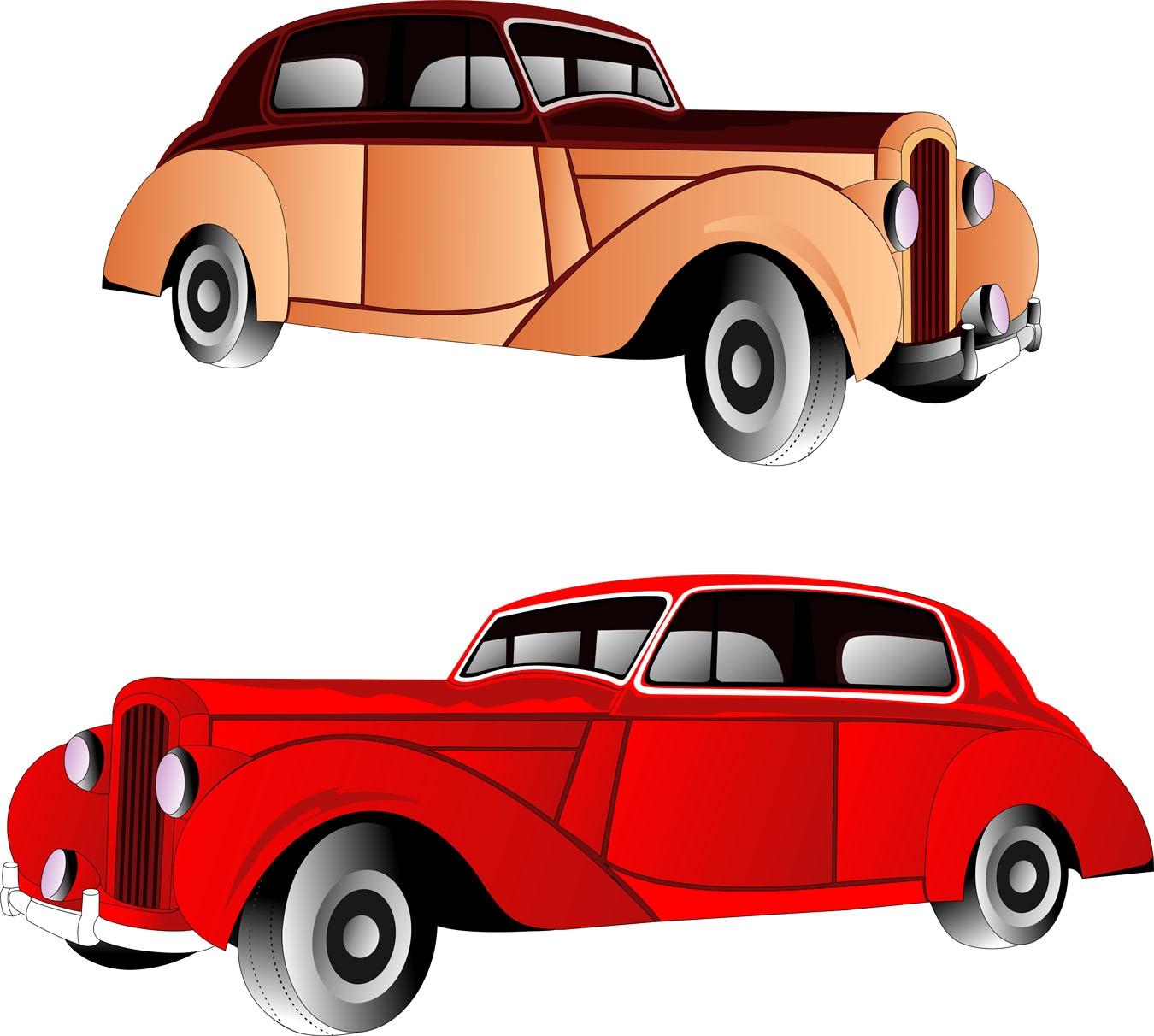 Classic Car Vector Clipart.