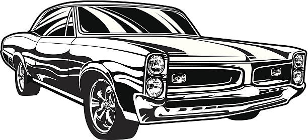 Best Classic Cars Illustrations, Royalty.