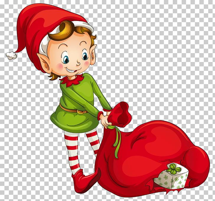 Santa Claus Classic Christmas elf , Elf PNG clipart.