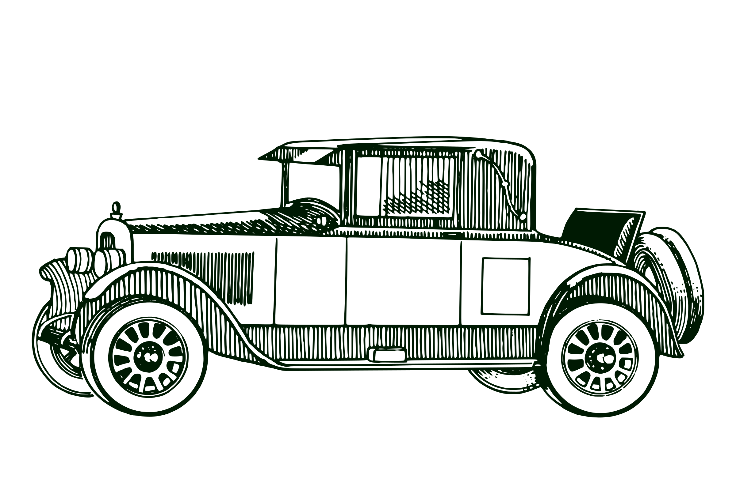Classic Car vector clipart image.