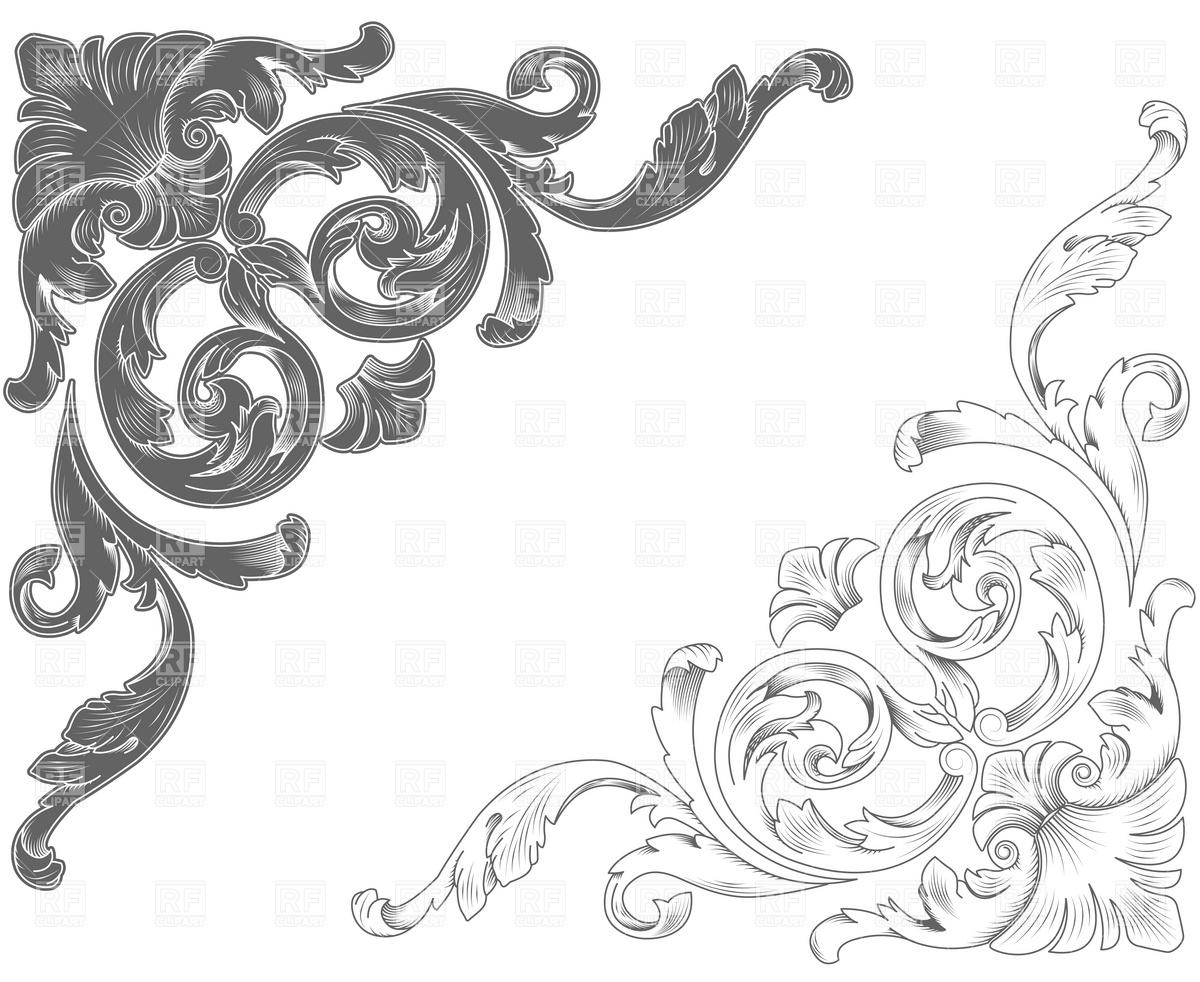 Classic ornamental corners Vector Image #4866.