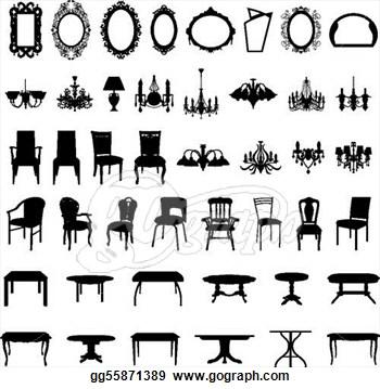Clip Art Modern Chairs.