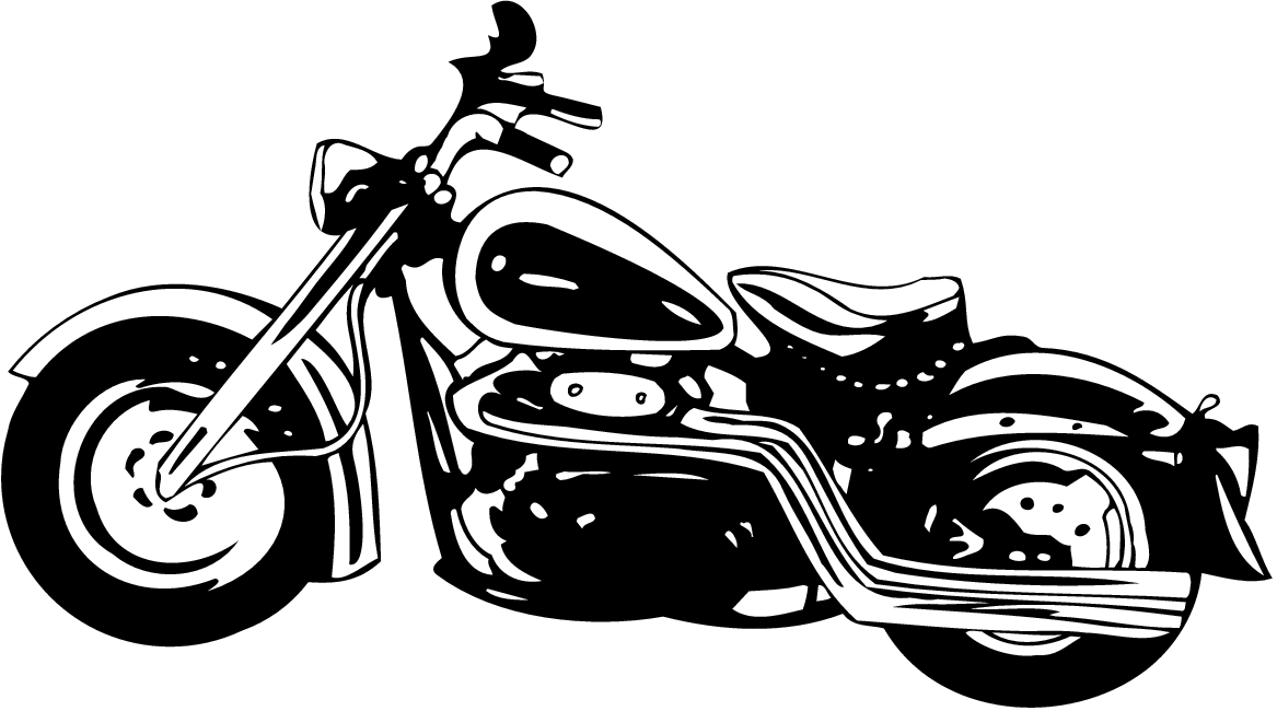 And Black White Motorcycle Clipart.