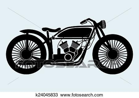 Classic Motorcycle Clipart.
