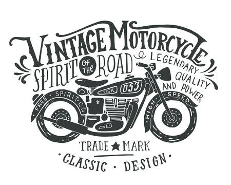 Vintage Motorcycle Clipart & Free Clip Art Images #20962.