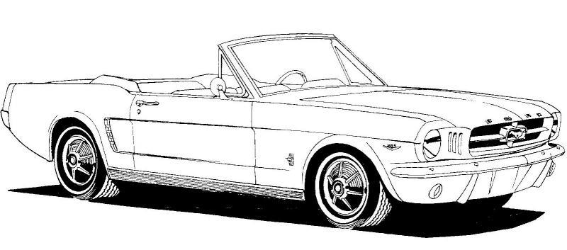 classic mustang car clipart