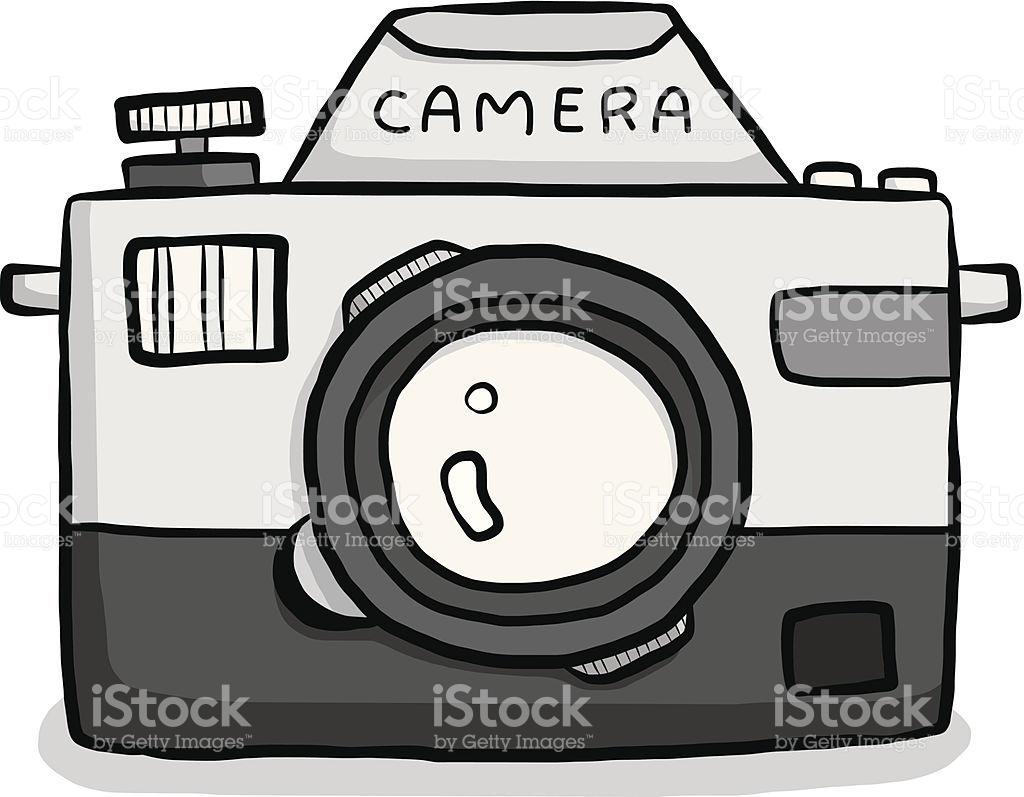 Classic Camera Cartoon stock vector art 180768605.
