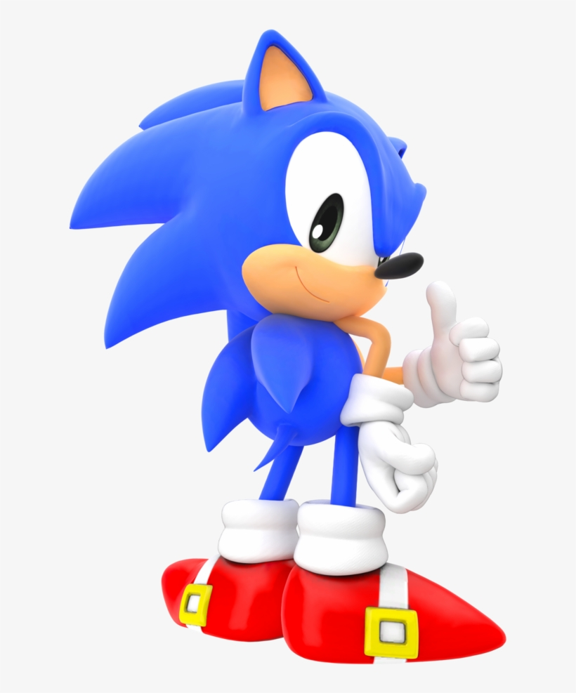 Classic Sonic The Hedgehog Png.