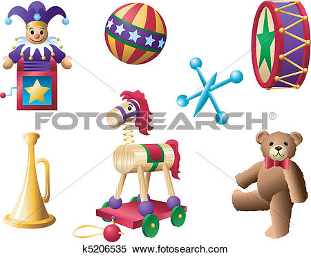 Clipart of Classic Toys 2 k5206535.