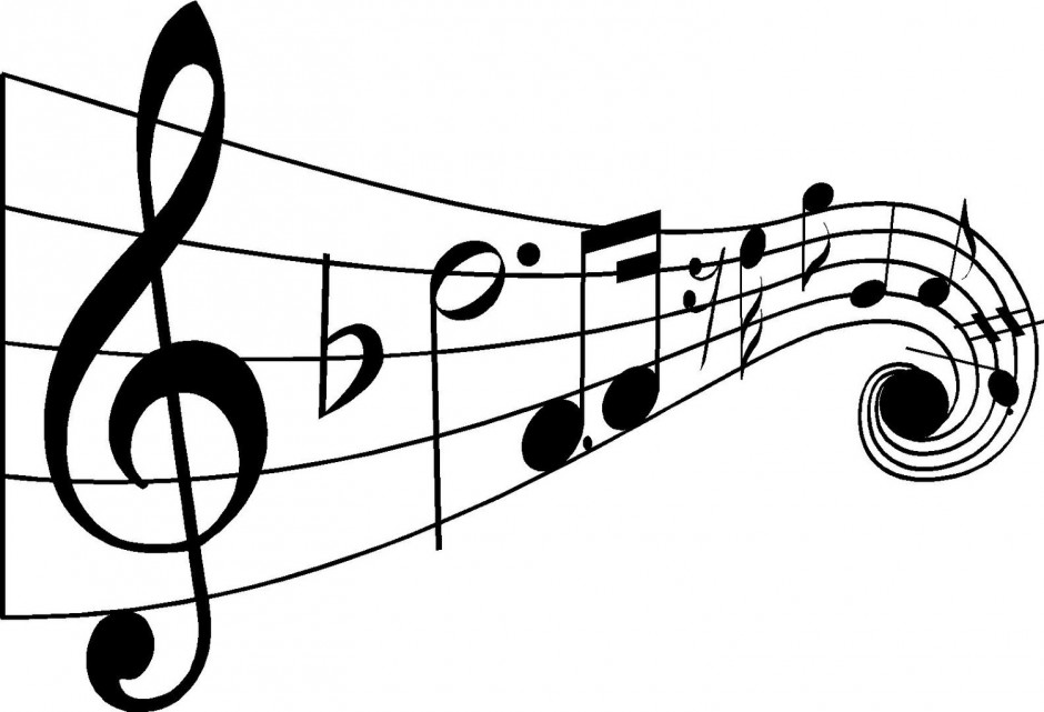 Free Black And White Clipart For Classical Music.
