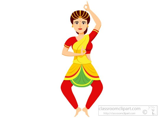 Performing indian classical dance clipart » Clipart Portal.