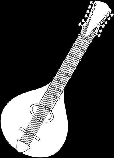 Black and White Mandolin Design.