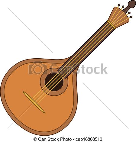 Vector Clip Art of Musical instrument mandolin.