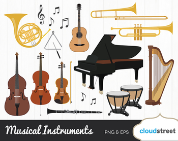 Cloudstreetlab: Musical Instrument , Classical Music Clip Art by.