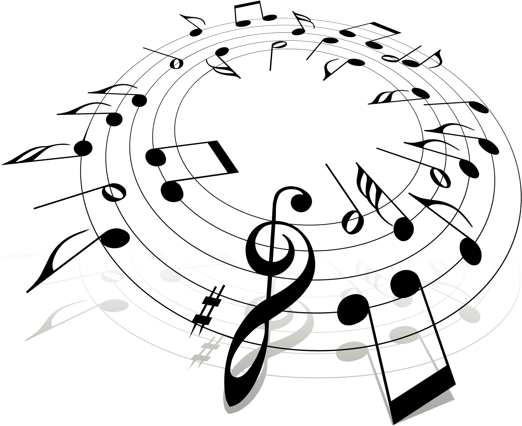 Music clipart free vector.