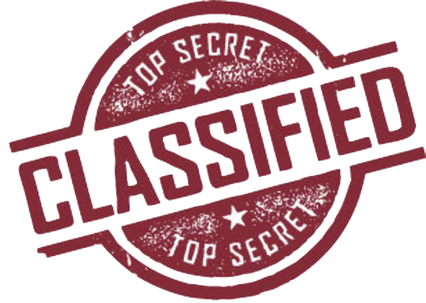 Classified Stamp PNG Transparent Images.