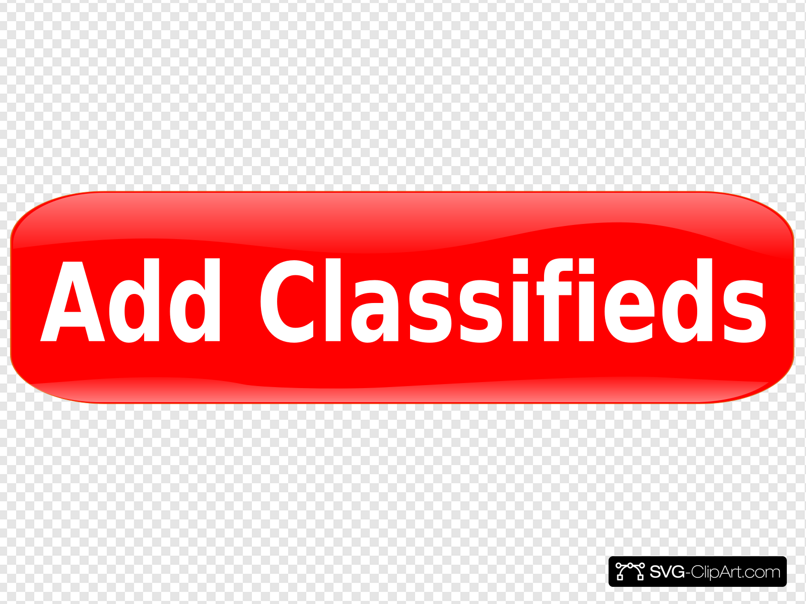 Button Red Add Classifieds Clip art, Icon and SVG.