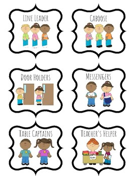 Classroom Job Clipart Worksheets & Teaching Resources.