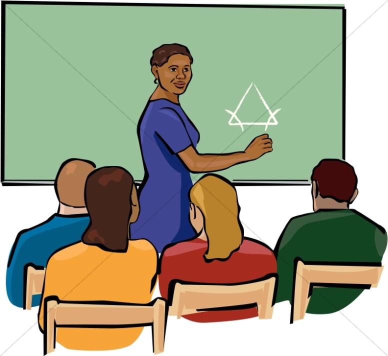 African American Students Classroom Clipart.