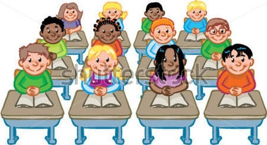 Classroom And Student Clipart.