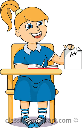 Classroom With Students Clipart.