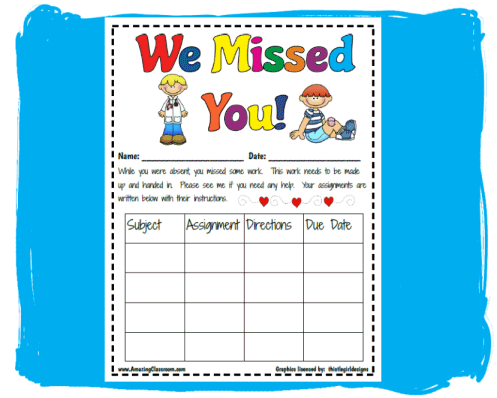 Missing Assignment Clipart.
