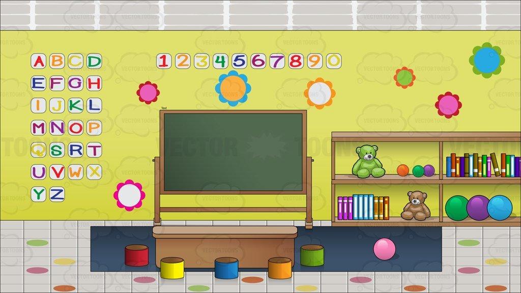 Inside A Preschool Classroom Background.